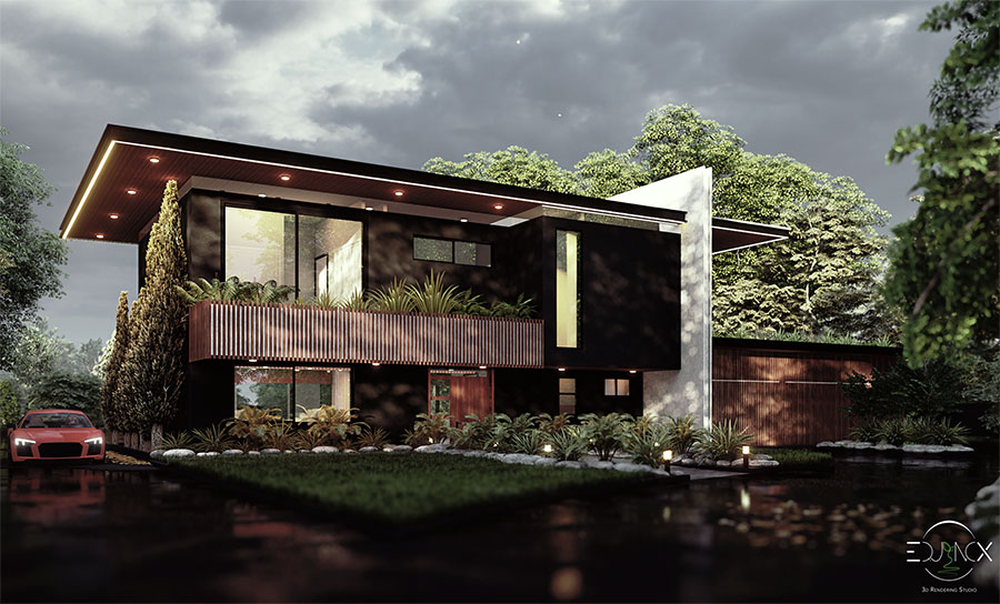 THE RIVER HOUSE - 3d rendering sydney
